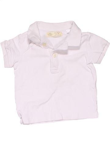 Short sleeve polo shirt boy ZARA white 18 months summer #10170_1