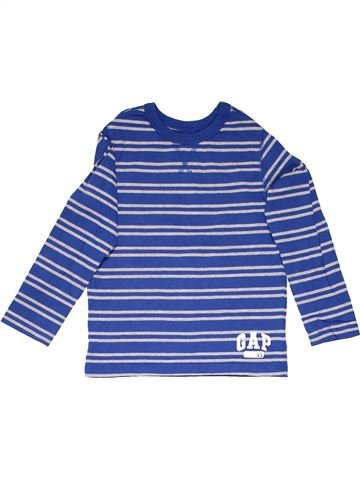 Long sleeve T-shirt unisex GAP blue 5 years winter #1174_1