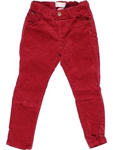Trouser girl ZARA red 4 years winter #12270_1