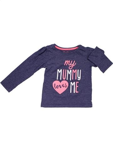Long sleeve T-shirt girl YOUNG DIMENSION blue 3 years winter #1308_1