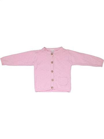 Long sleeve T-shirt girl PRENATAL pink 3 months winter #1400_1