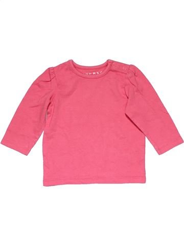 Long sleeve T-shirt girl NUTMEG pink 6 months winter #14500_1