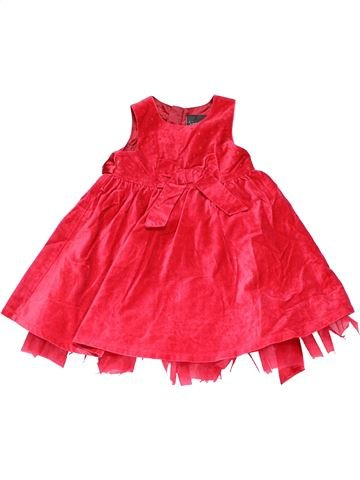 Dress girl NEXT red 12 months winter #14829_1