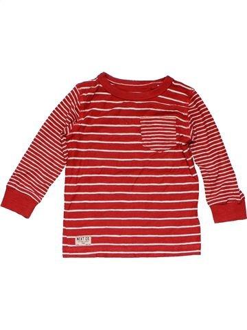 Long sleeve T-shirt boy NEXT red 12 months winter #14956_1