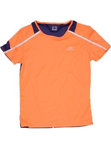 Sportswear boy KALENJI orange 12 years summer #15133_1