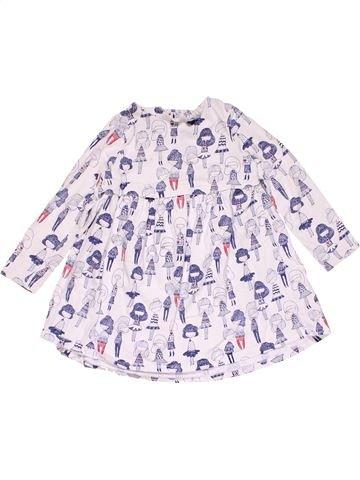 Dress girl MINI CLUB white 2 years winter #15136_1