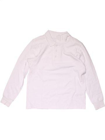 Long sleeve polo shirt boy GEORGE white 6 years winter #15437_1