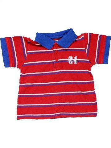 Short sleeve polo shirt boy REBEL red 12 months summer #15821_1