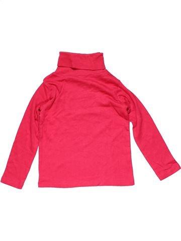 Turtleneck T-shirt girl E-VIE ANGEL red 4 years summer #15855_1