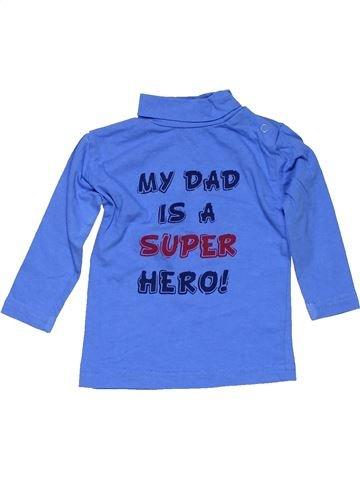 Turtleneck T-shirt boy NO BRAND blue 6 months winter #15934_1