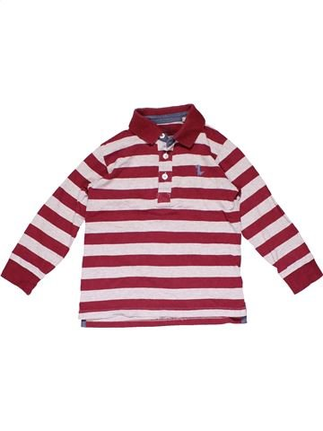 Long sleeve polo shirt boy DENIM CO purple 4 years winter #16325_1