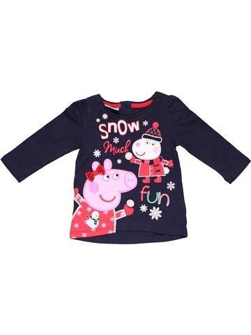 Long sleeve T-shirt boy PEPPA PIG black 6 months winter #17288_1