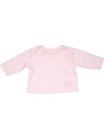 Long sleeve T-shirt girl M&S white 9 months winter #17805_1