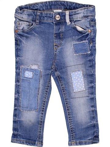 Jeans girl H&M blue 9 months winter #1814_1