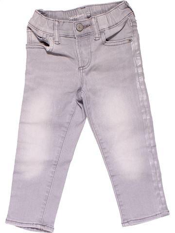 Jeans girl BABY GAP white 2 years winter #18255_1