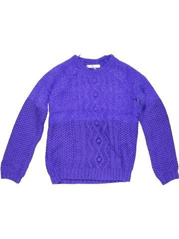 Jumper girl MARKS & SPENCER purple 9 years winter #18908_1