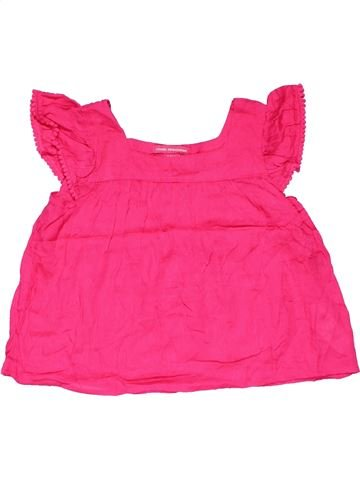 Short sleeve polo shirt girl YOUNG DIMENSION pink 5 years summer #19784_1
