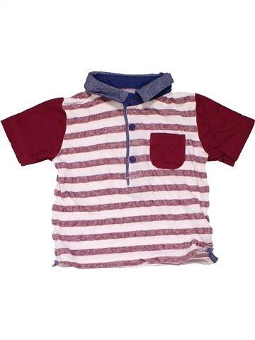 Short sleeve polo shirt boy MATALAN pink 9 months summer #20081_1