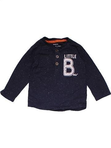 Long sleeve polo shirt unisex F&F dark blue 9 months winter #22633_1