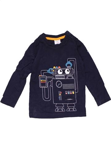 Long sleeve T-shirt unisex POLARN O. PYRET blue 2 years winter #22870_1