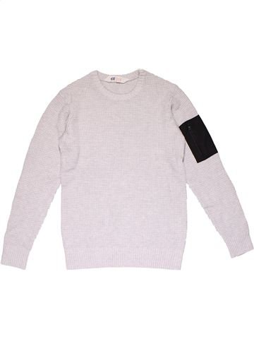Sweatshirt boy H&M white 12 years winter #23001_1