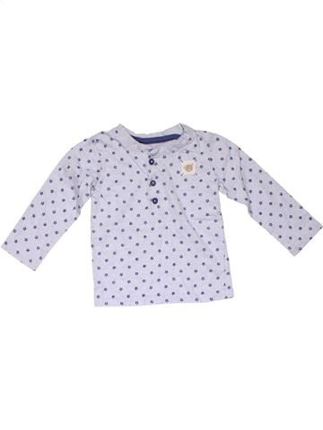 Long sleeve polo shirt boy GEORGE gray 12 months winter #24416_1