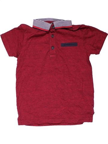 Short sleeve polo shirt boy GEORGE purple 7 years summer #24463_1