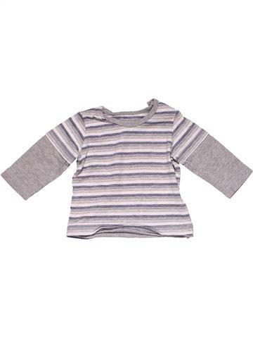 Long sleeve T-shirt boy MATALAN gray 3 months winter #25429_1