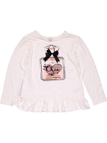 Long sleeve blouse girl PRIMARK white 8 years winter #25584_1