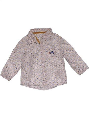 Long sleeve shirt boy M&S gray 6 months winter #25900_1