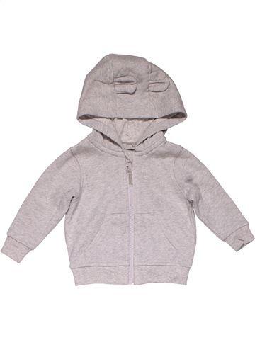 Sweatshirt girl M&S gray 9 months winter #26005_1