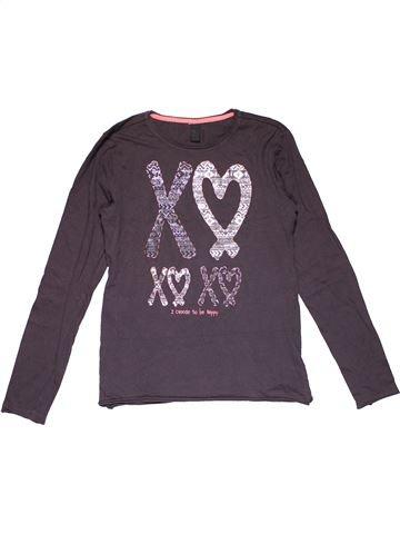 Long sleeve T-shirt girl JILIO gray 14 years winter #26013_1