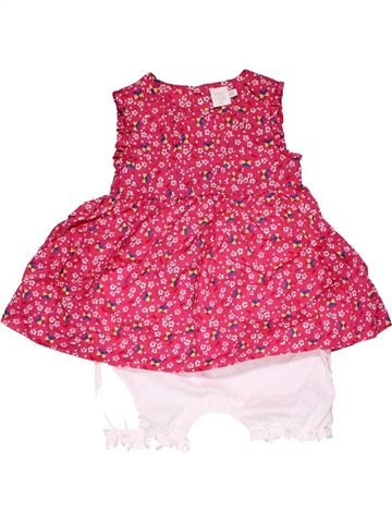 Short jumpsuit girl MINI CLUB pink 9 months summer #26383_1