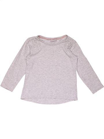 Long sleeve T-shirt girl MATALAN white 5 years winter #26392_1