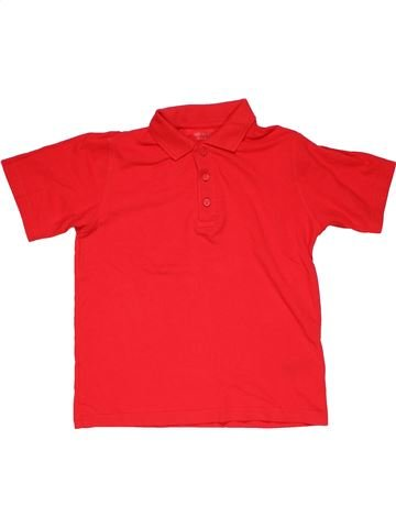 Short sleeve polo shirt boy M&S red 8 years summer #26565_1