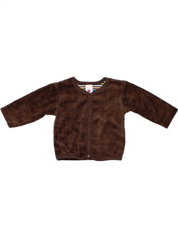 Long sleeve T-shirt unisex BABY CLUB brown 1 month winter #2658_1
