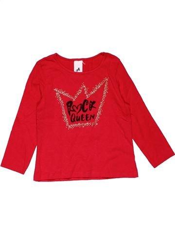 Long sleeve T-shirt girl PALOMINO red 5 years summer #26721_1