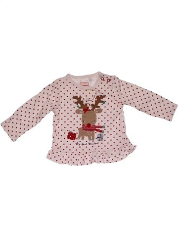 Long sleeve blouse girl BLUEZOO pink 6 months winter #26886_1