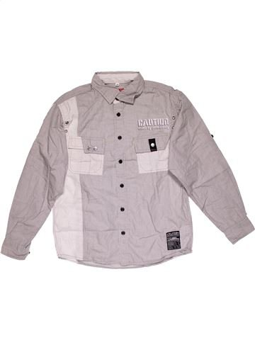 Long sleeve shirt boy HERE & THERE gray 12 years winter #26908_1