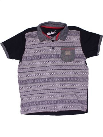Short sleeve polo shirt boy REBEL gray 11 years summer #27391_1