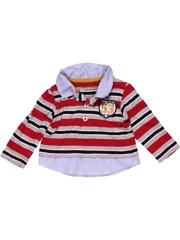 Long sleeve polo shirt boy EARLY DAYS white 3 months winter #27451_1