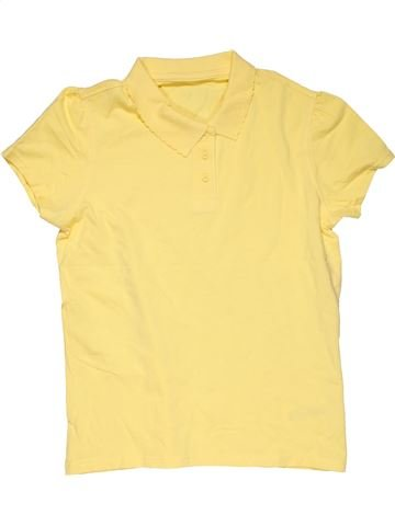 Short sleeve polo shirt girl GEORGE yellow 13 years summer #27562_1