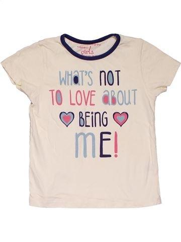 Short sleeve T-shirt girl PEP&CO white 5 years summer #27575_1