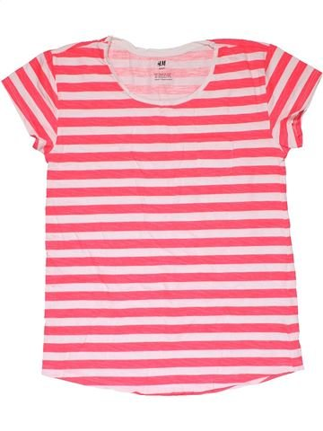 Short sleeve T-shirt girl H&M pink 16 years summer #27746_1