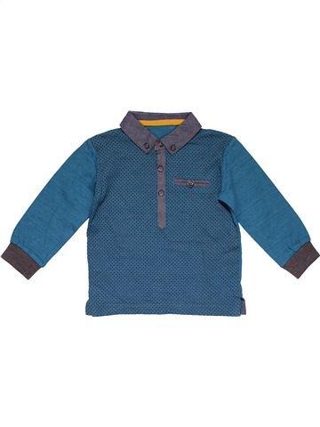 Long sleeve polo shirt boy MATALAN blue 12 months winter #27778_1