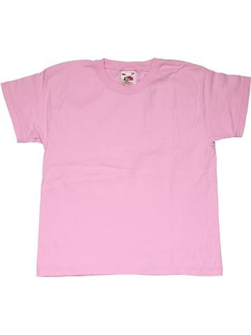 Short sleeve T-shirt girl FRUIT OF THE LOOM pink 6 years summer #27834_1