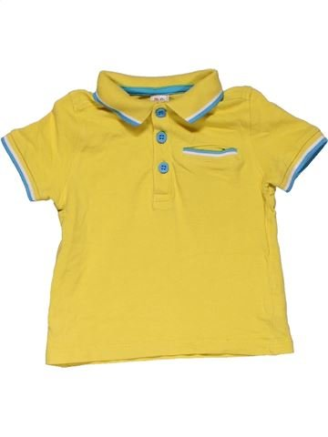 Short sleeve polo shirt boy MINI CLUB yellow 18 months summer #27965_1