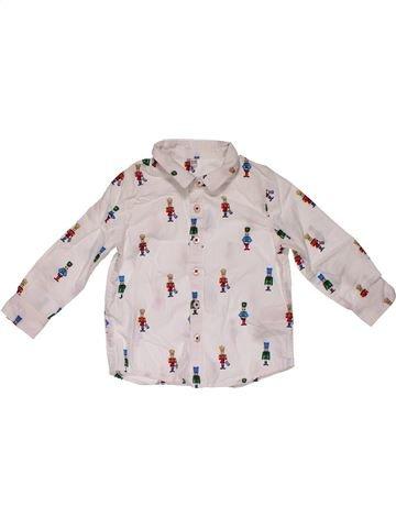 Long sleeve shirt boy MARKS & SPENCER white 18 months summer #28004_1