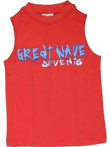 Sleeveless T-shirt girl ALIVE red 6 years summer #28152_1