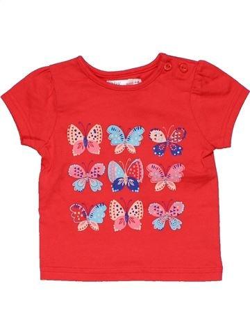 Short sleeve T-shirt girl M&CO red 6 months summer #28309_1